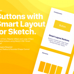 Smart Layout-ready buttons for Sketch app