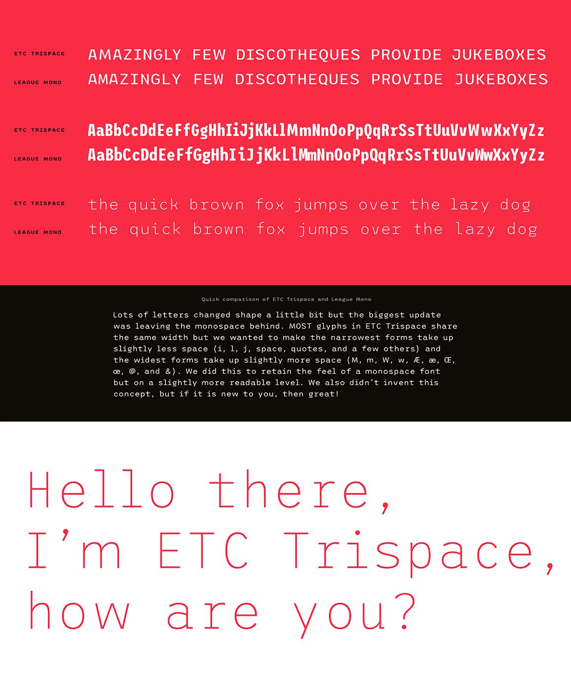 ETC Trispace preview