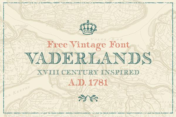 Vaderlands Vintage Free Font