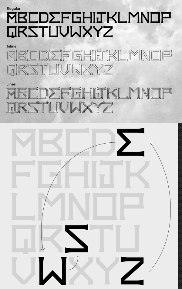 Zews Free Font Letters