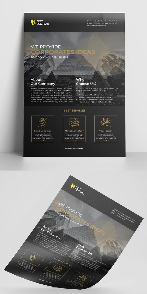 Black Flyer Template