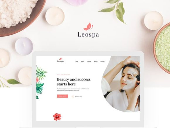Leospa: Free PSD & HTML template for Spa and beauty