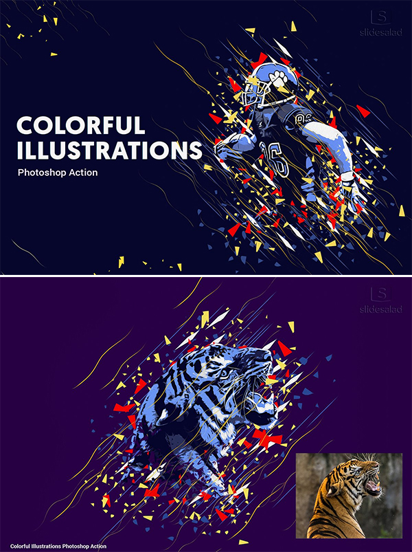 Illustrations Art Photoshop Action