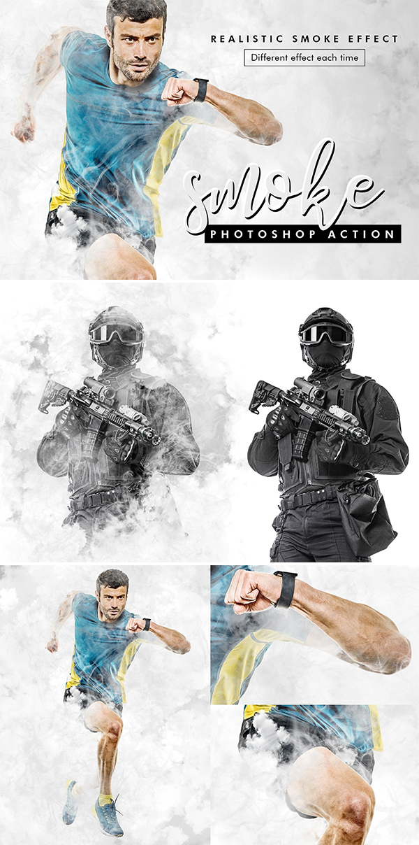 Smoke Photoshop Action
