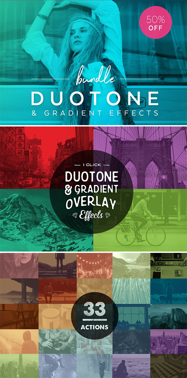 Duotone Actions Photoshop Bundle