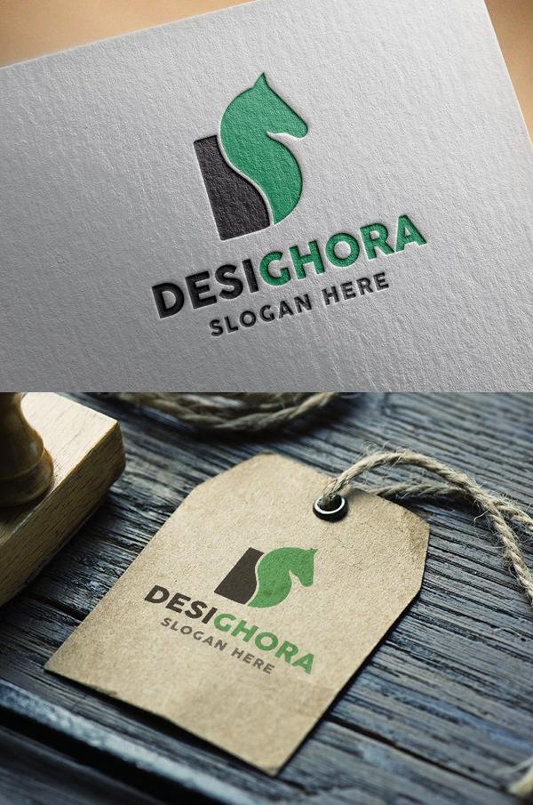 D Letter Horse Logo - 12