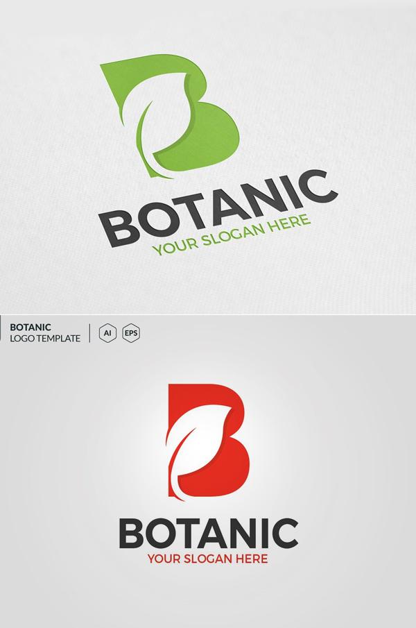 B Letter Leaf Logo - 21