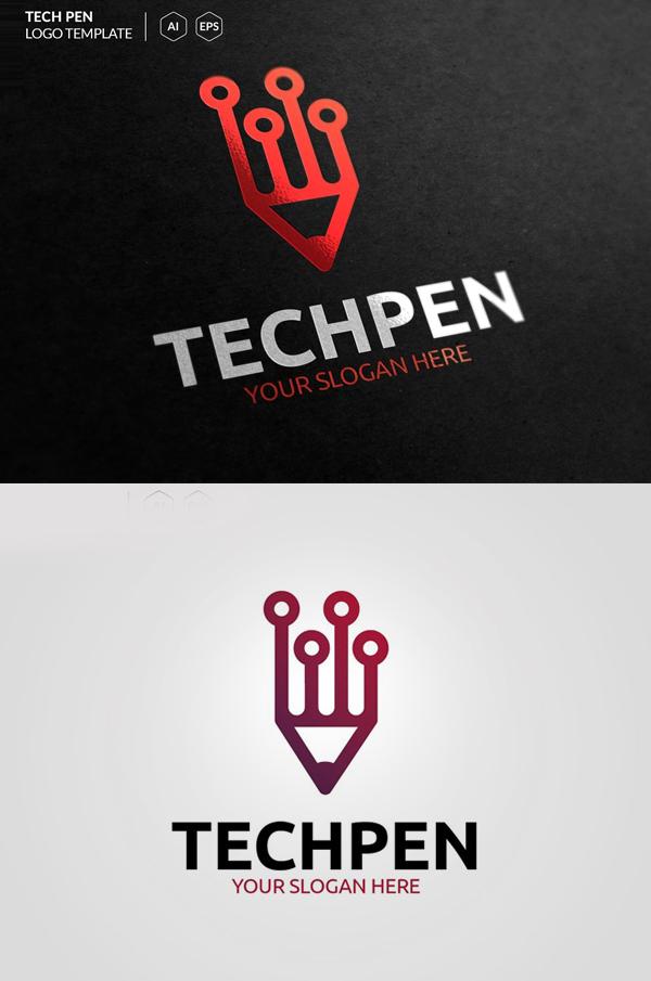 Tech Pen Logo - 3