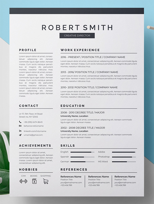 Simple Attractive Resume CV