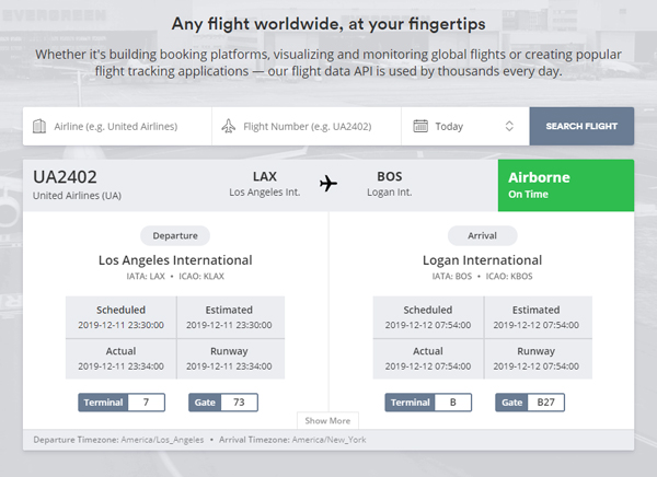 Features of Aviation Stack API