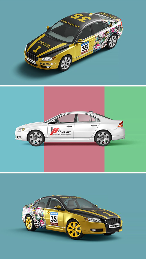 3D Car Mock-up