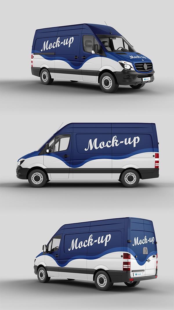 Creative Cargo Van Mockup