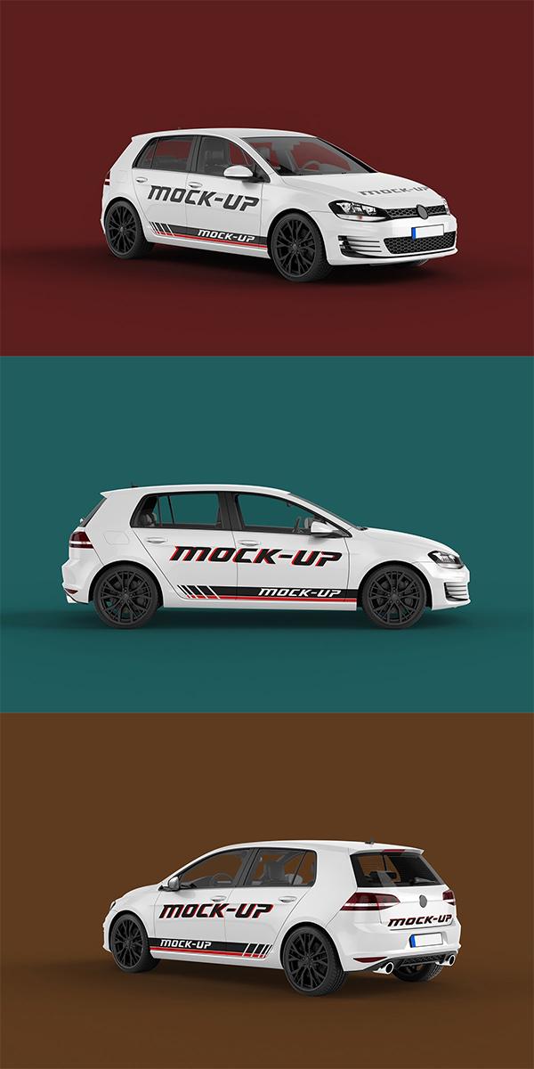 Simple Car Mockup