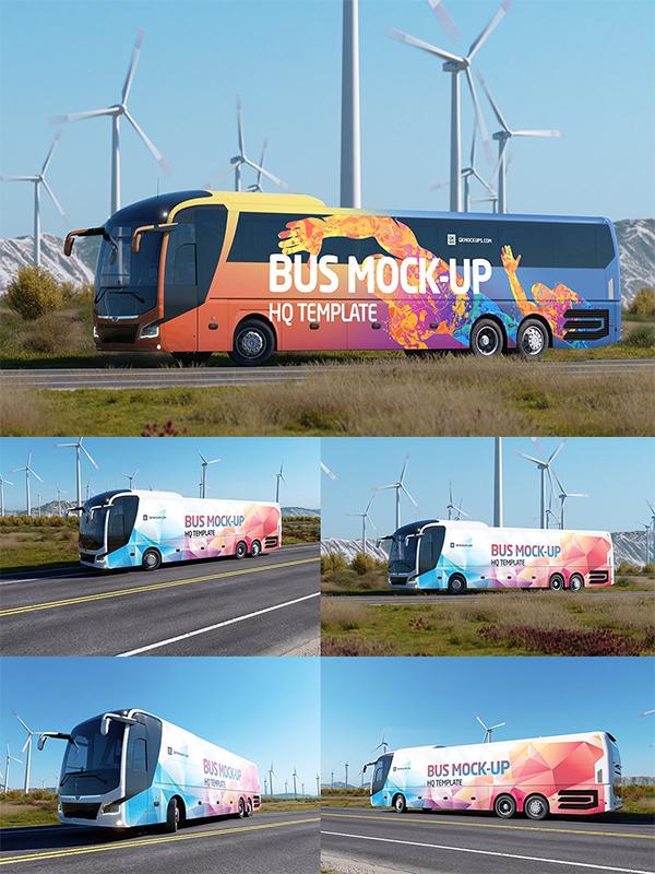 Animated Bus Mockup