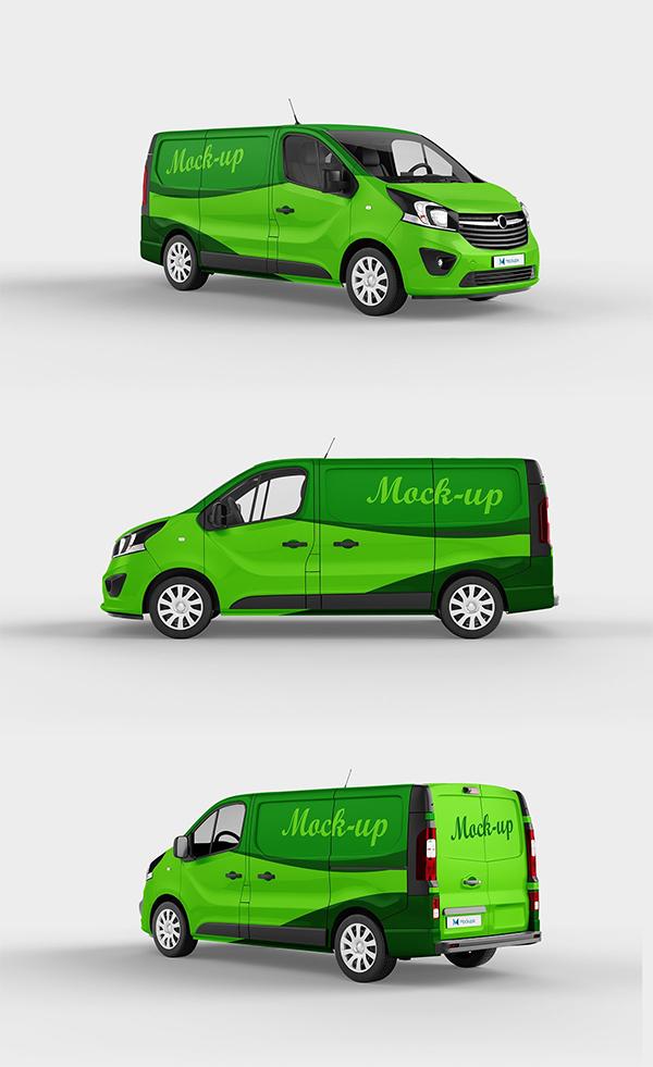 Green Van Mockup