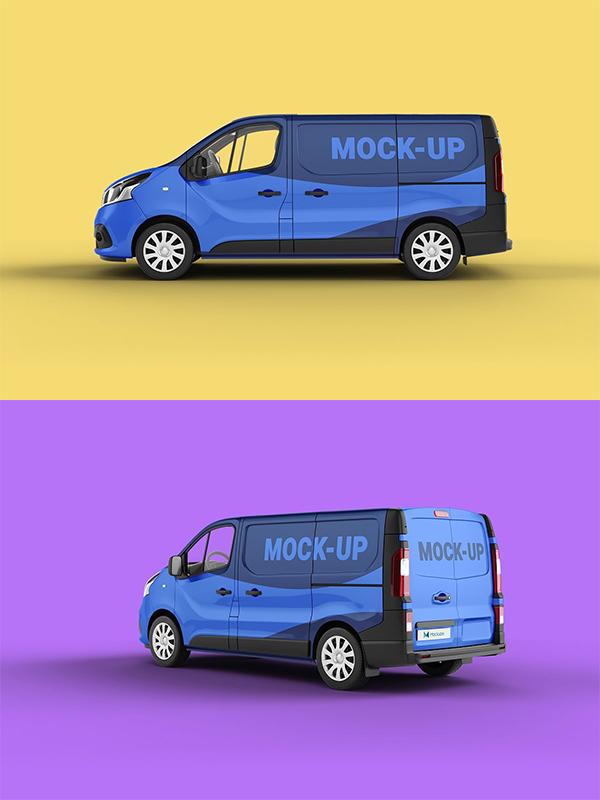 Elegant Van Mockup
