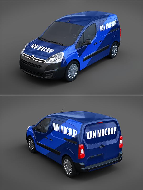 High Quality Van Mockup