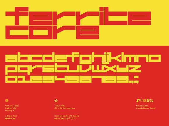 Ferrite Core: A free futuristic font