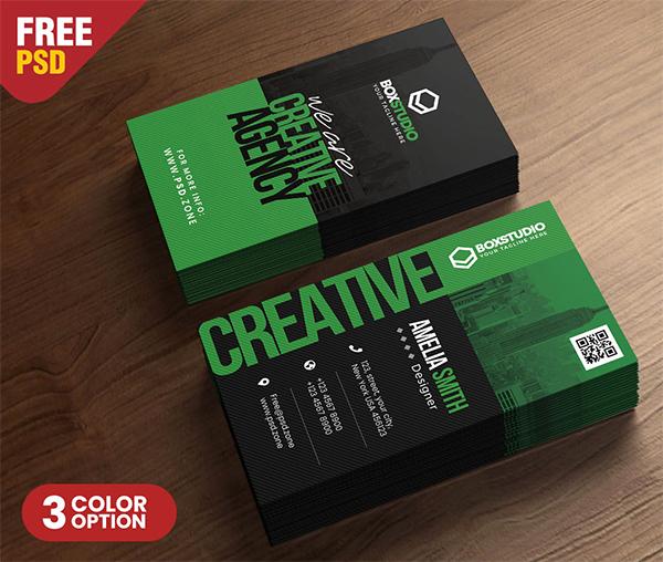Creative Vertical Business Card PSD