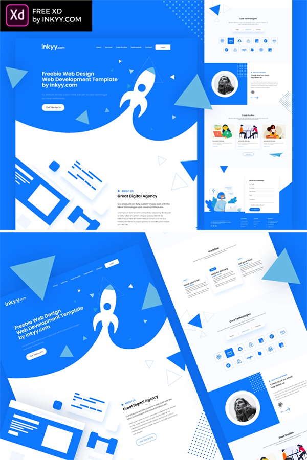 Digital Agency free XD Web Template