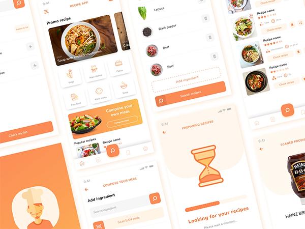 Free Recipe App Design Concept