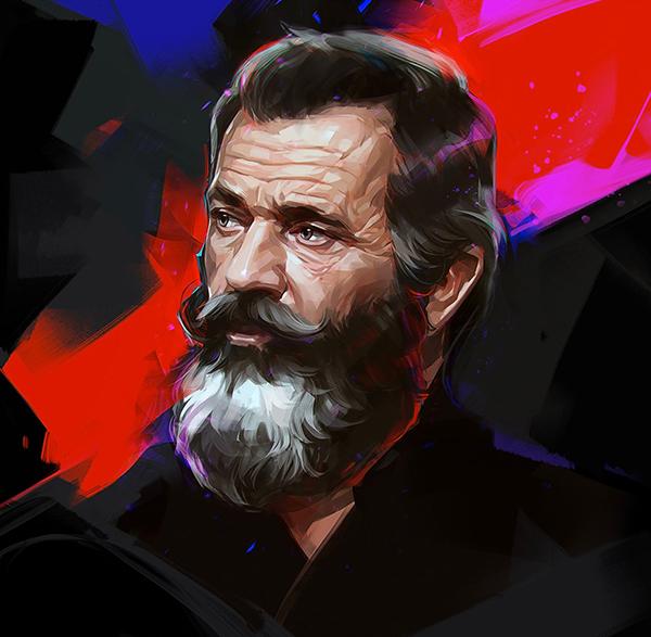 Amazing Illustration Portraits by Russian Artist Viktor Miller-Gausa