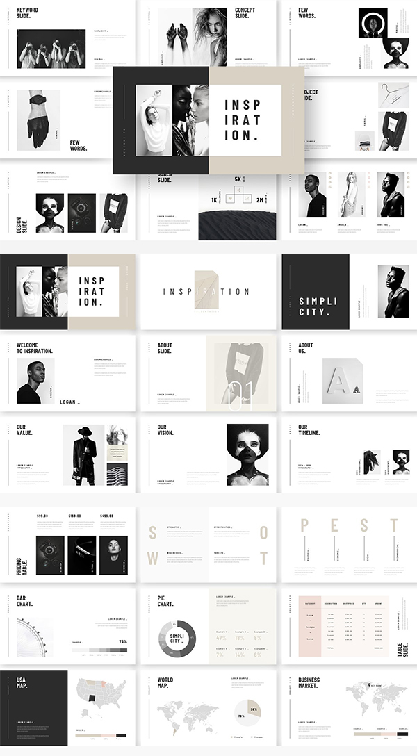 Stylish Minimal Keynote Template