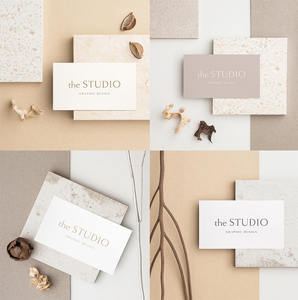 Sand Business Card Photo Mockups
