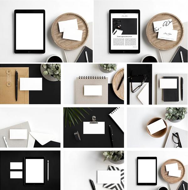 Business Card  iPad Photo Mockups