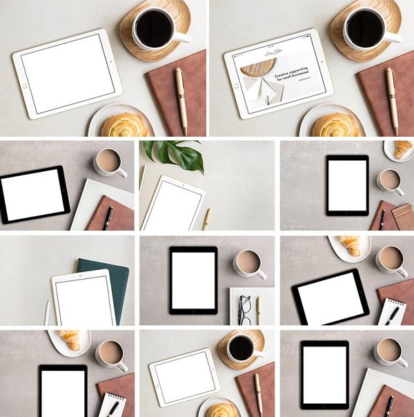 Tan iPad Photo Mockup Bundle