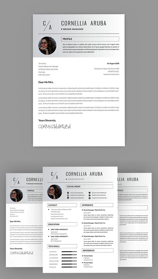 Cornellia Brand Resume Designer