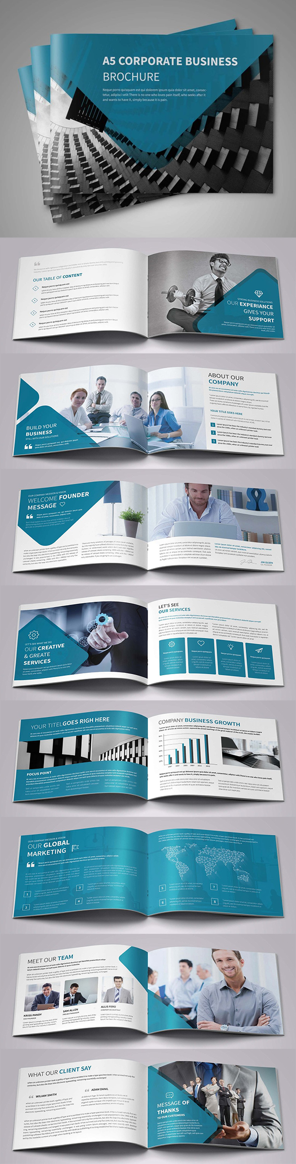 Corporate Landscape Brochure Template