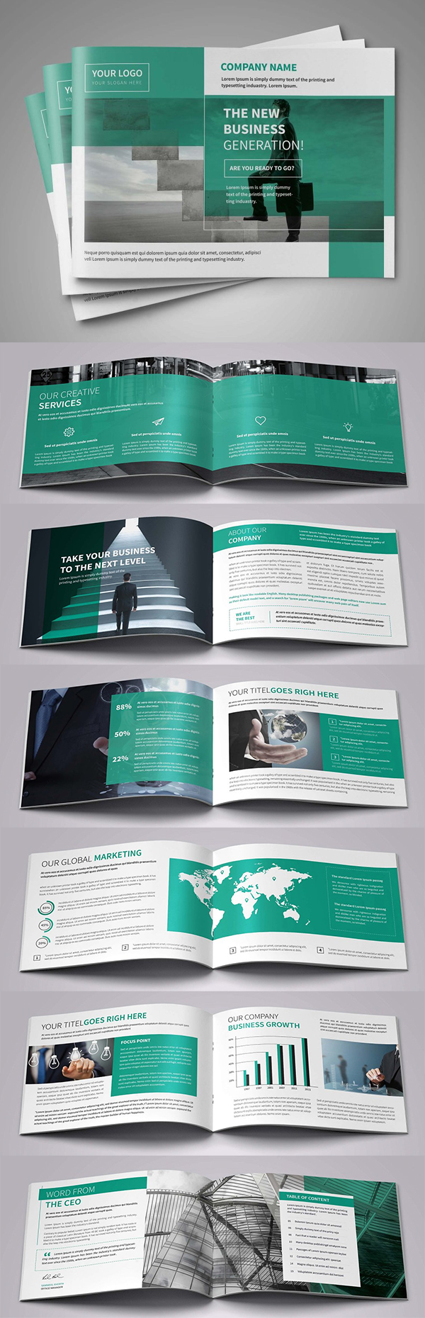 A5 Awesome Business Brochure Template