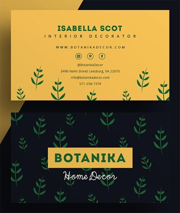 Botanika - Business Card Template