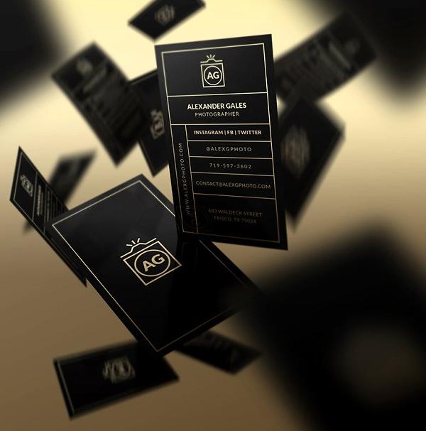 Elegant Gold - Business Card Template