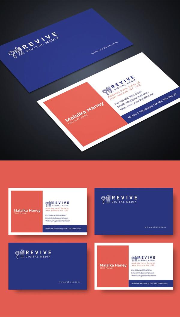 Digital Media Business Card Template