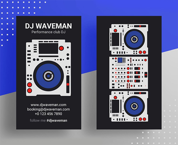 DJ Business Card PSD Template