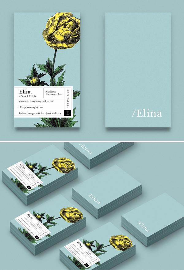Elina business card Template