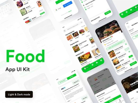 Comida: Free UI Kit for food delivery apps
