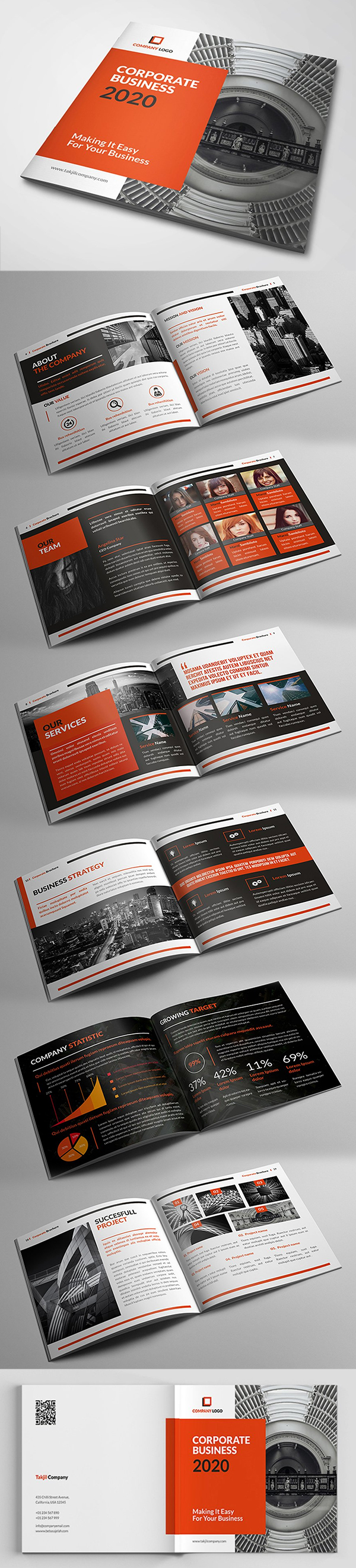 Square Corporate Brochure Template