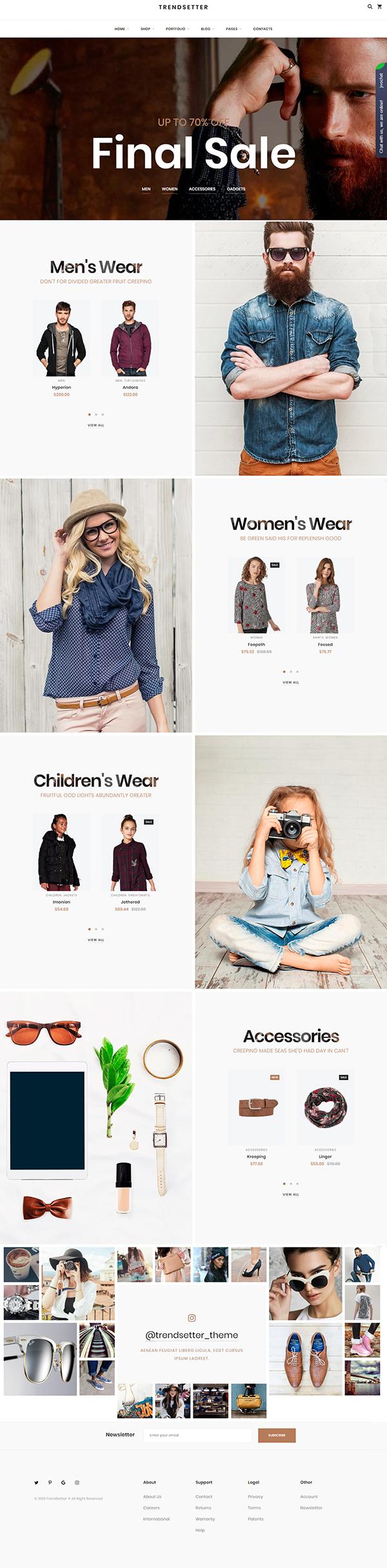 Trendsetter - WooCoomerce Modern Fashion Store