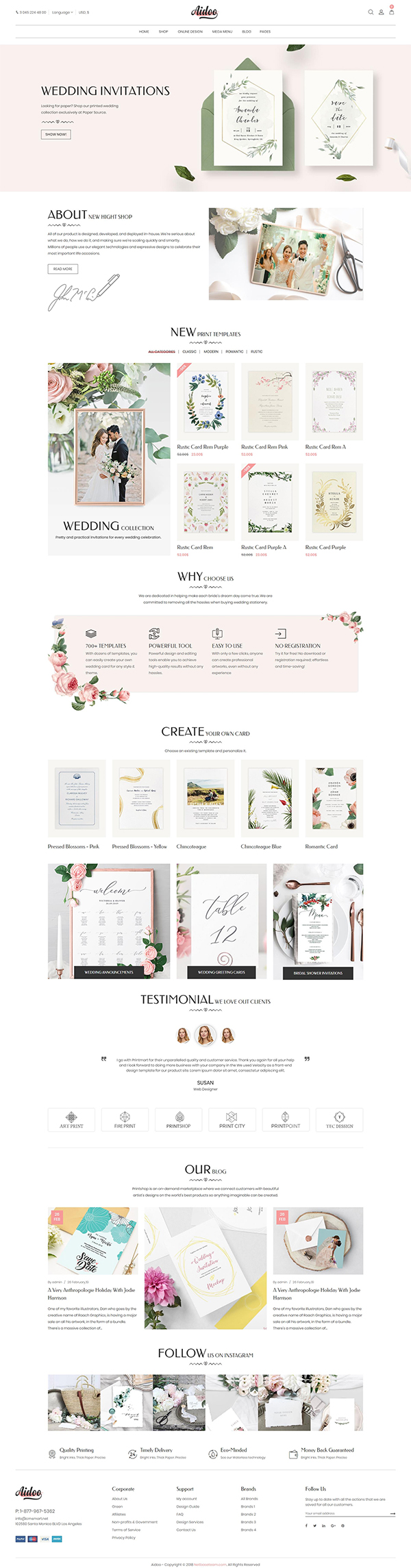 Aidoo - Wedding Card WooCommerce Theme