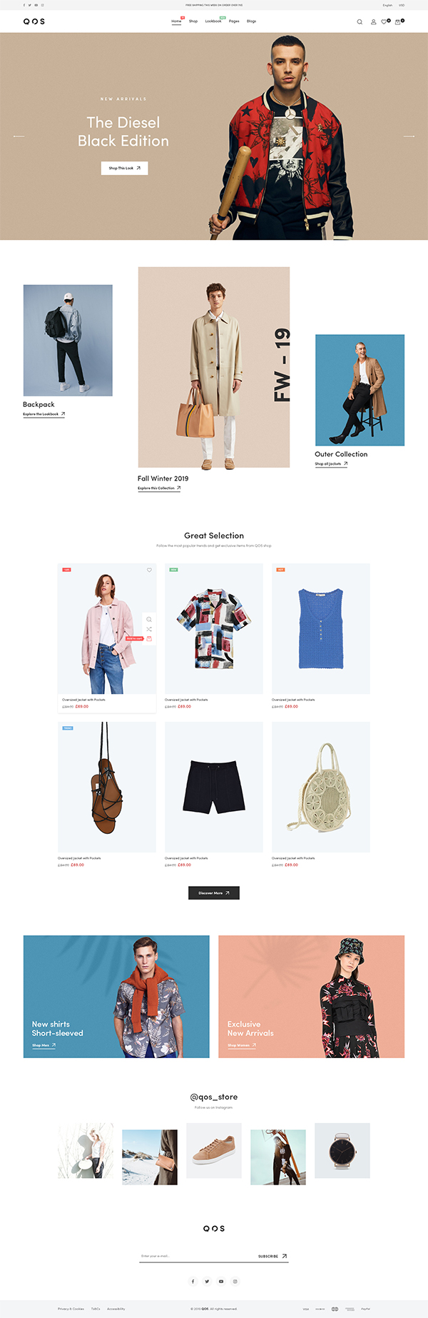 QOS - Minimal Fashion WooCommerce WordPress Theme