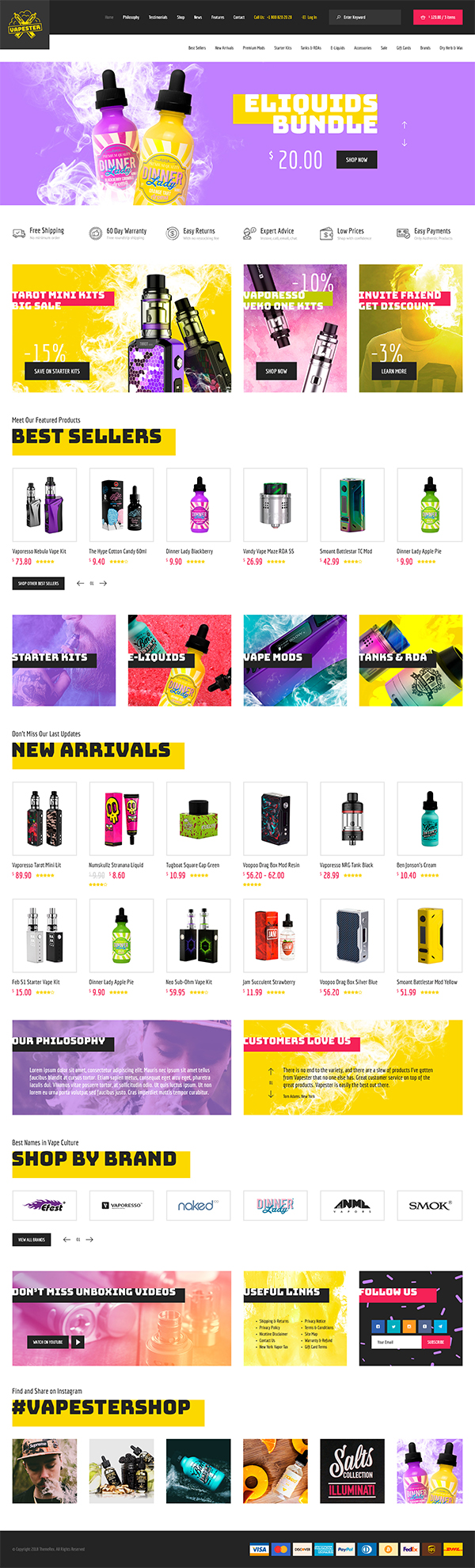 Vapester - Creative Vape Shop WooCommerce Theme