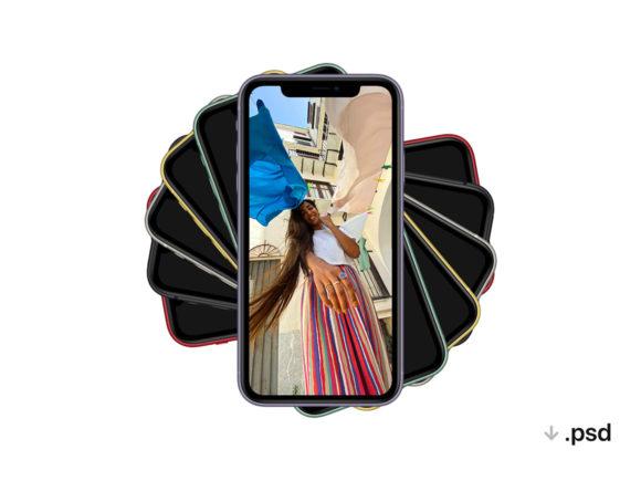 A PSD iPhone 11 mockup
