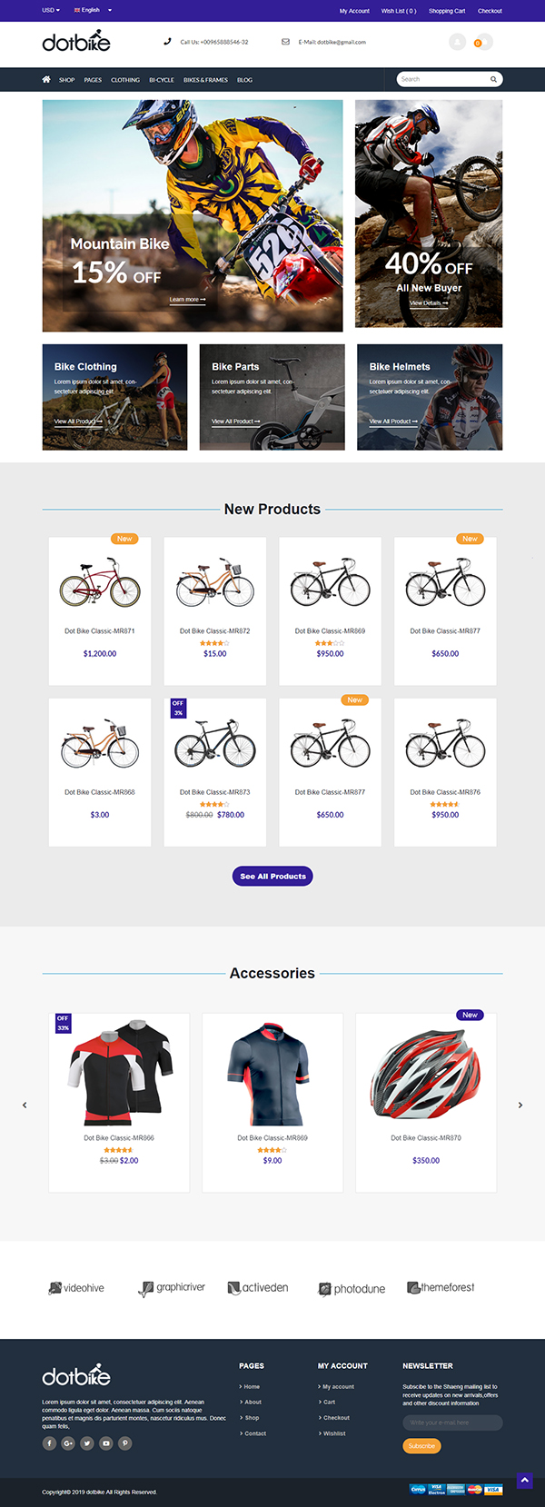 DotBike - eCommerce WordPress Theme