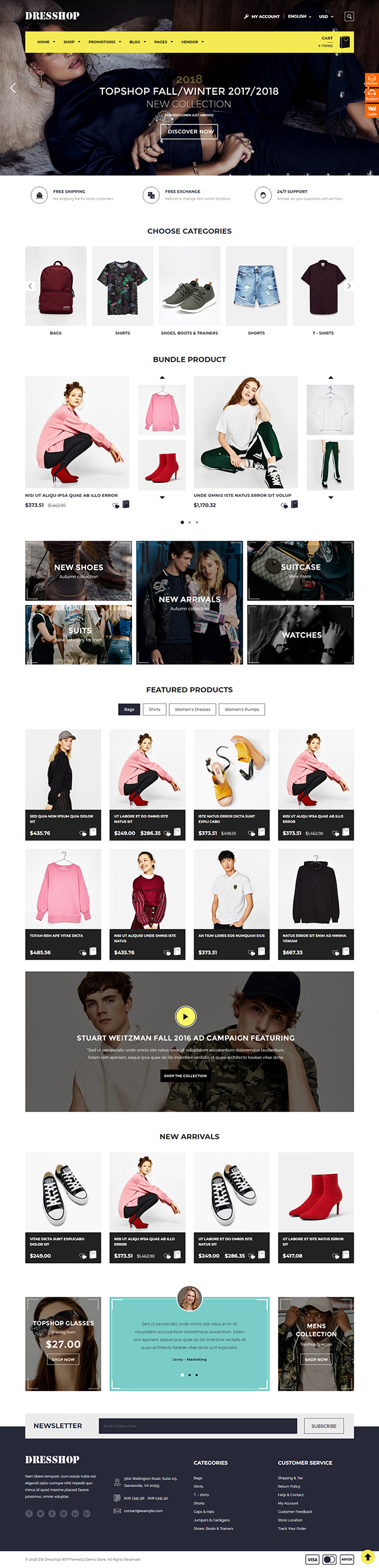DresShop - Fashion WooCommerce Theme