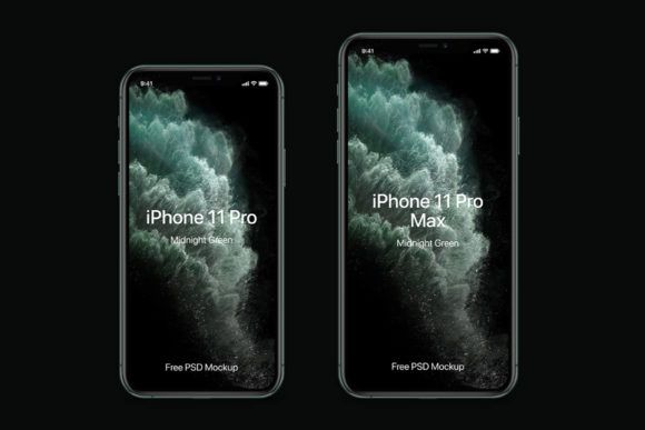 PSD iPhone 11 mockup by Pixeden