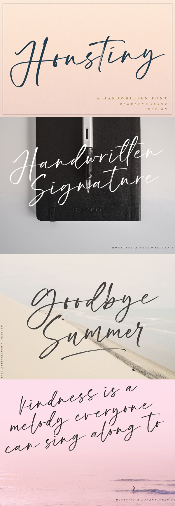 Houstiny Handwritten Free Font