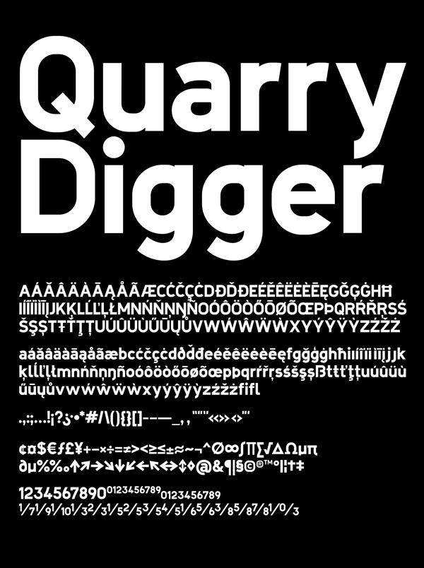 Quarry Digger Font Letters